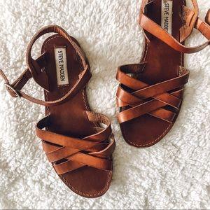 Steve Madden Brown Strappy Sandals